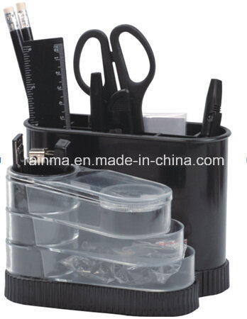 Plastic Desk Rotation Stationery Organizer in Black Color406 pictures & photos