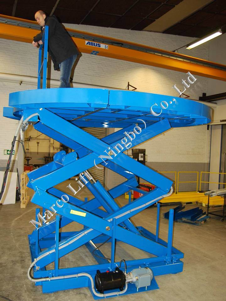 Marco High Scissor Lift Table with Removable Segments