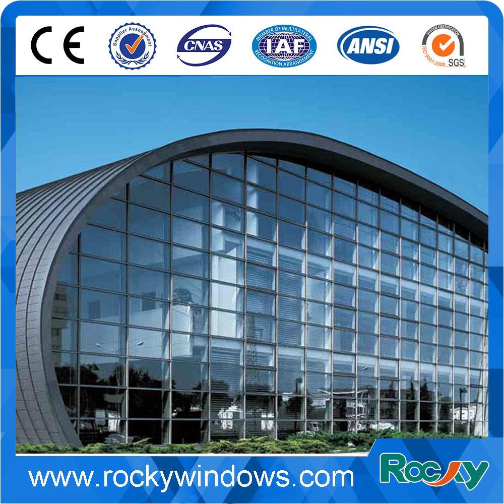 China Philipines Aluminum Frame Glass Curtain Wall