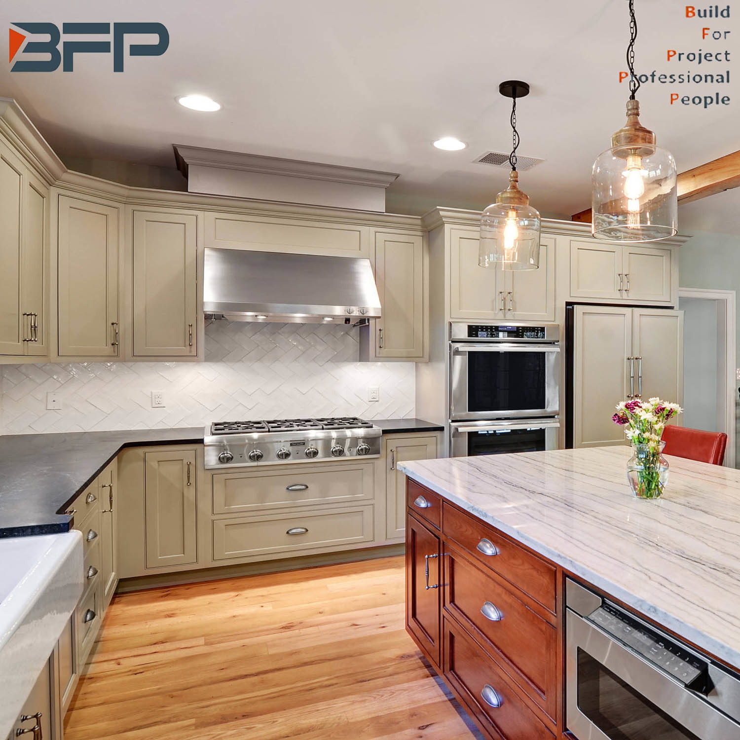 [Hot Item] Classical Design USA Style Solid Wood Kitchen Products Kitchen  Cabinets