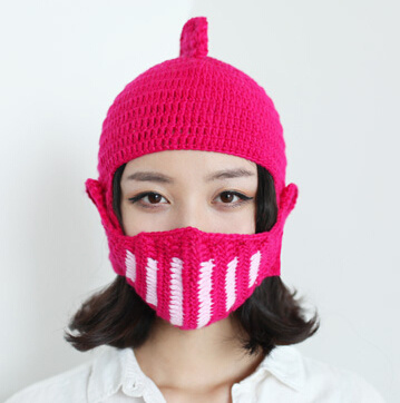 Special Mask Knight Handmade Knitting Knitted Hat