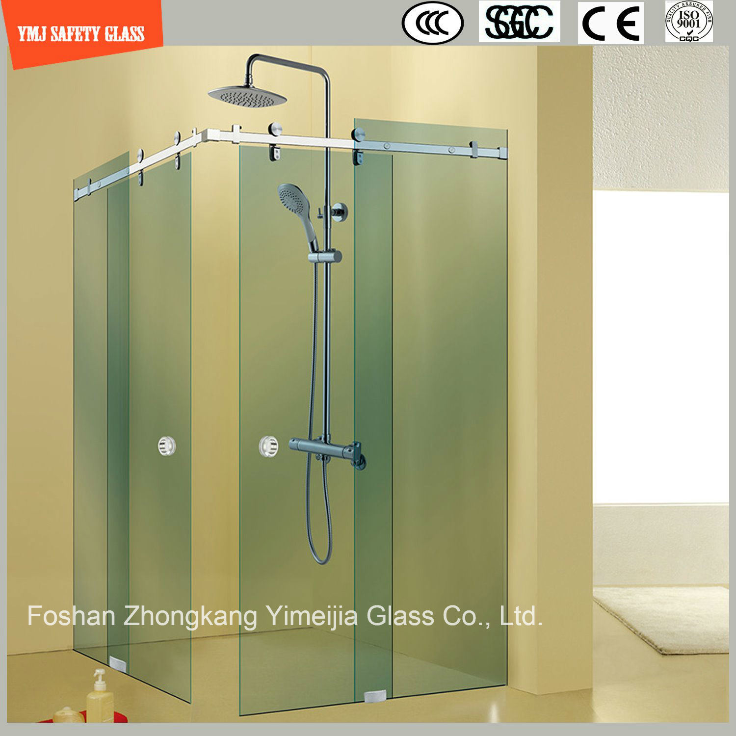 China Adjustable 6-12 Tempered Glass Sliding Simple Stainless Steel ...
