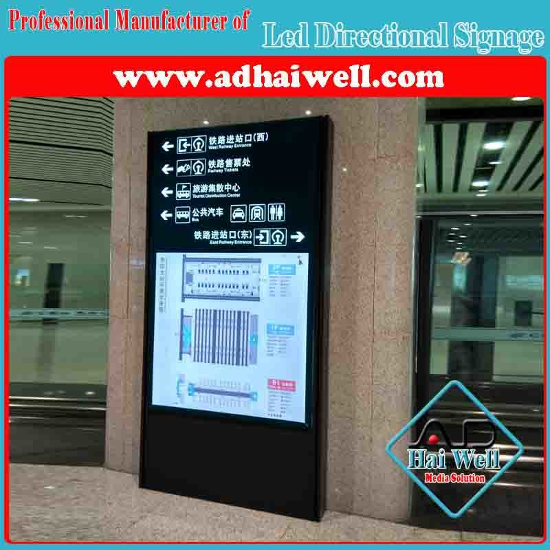 Airport Custom LED Directional Signage Board