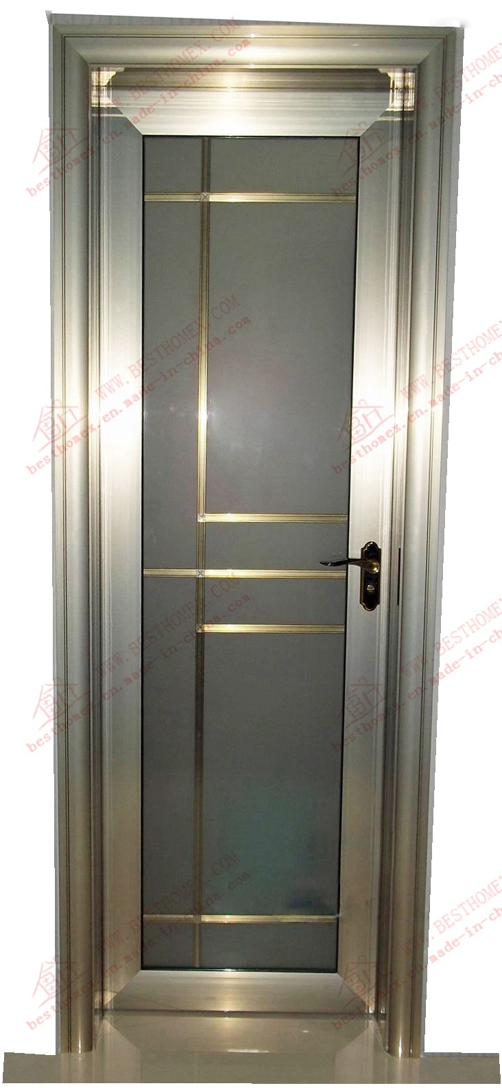 China High Quality Pvdf Coated Aluminum Toilet Door Bha Dc25