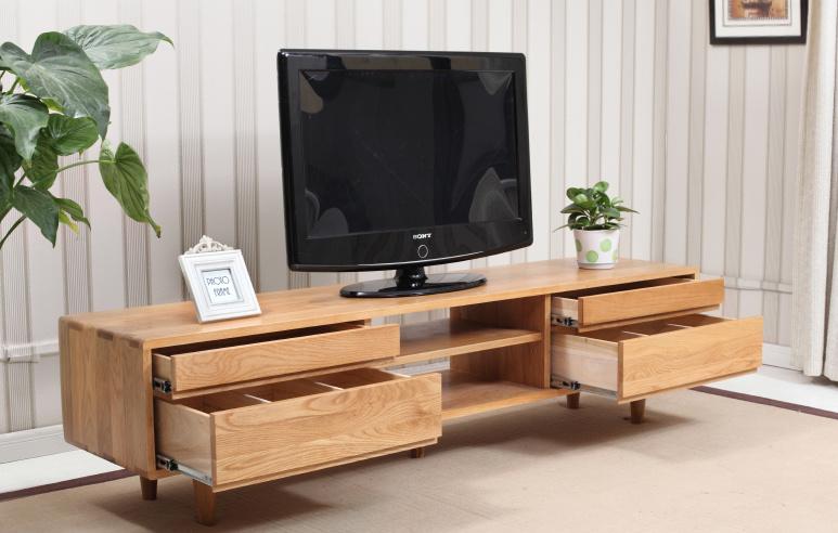 [Hot Item] Japanese-Style Oak Wood TV Cabinet Modern Living Room Furniture  (M-X2009)