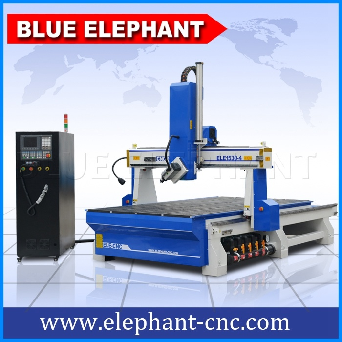 Discount Price 1530 Wood Carving 4 Axis CNC Router for Foam Mold pictures & photos
