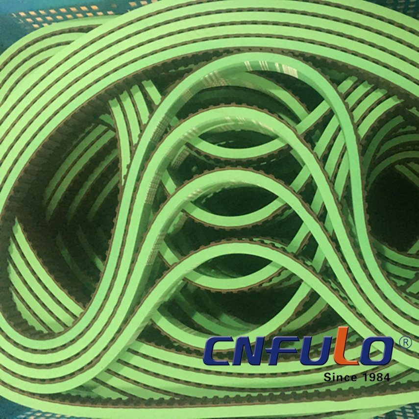 Green Coating Timing Belt for Packing Machine pictures & photos