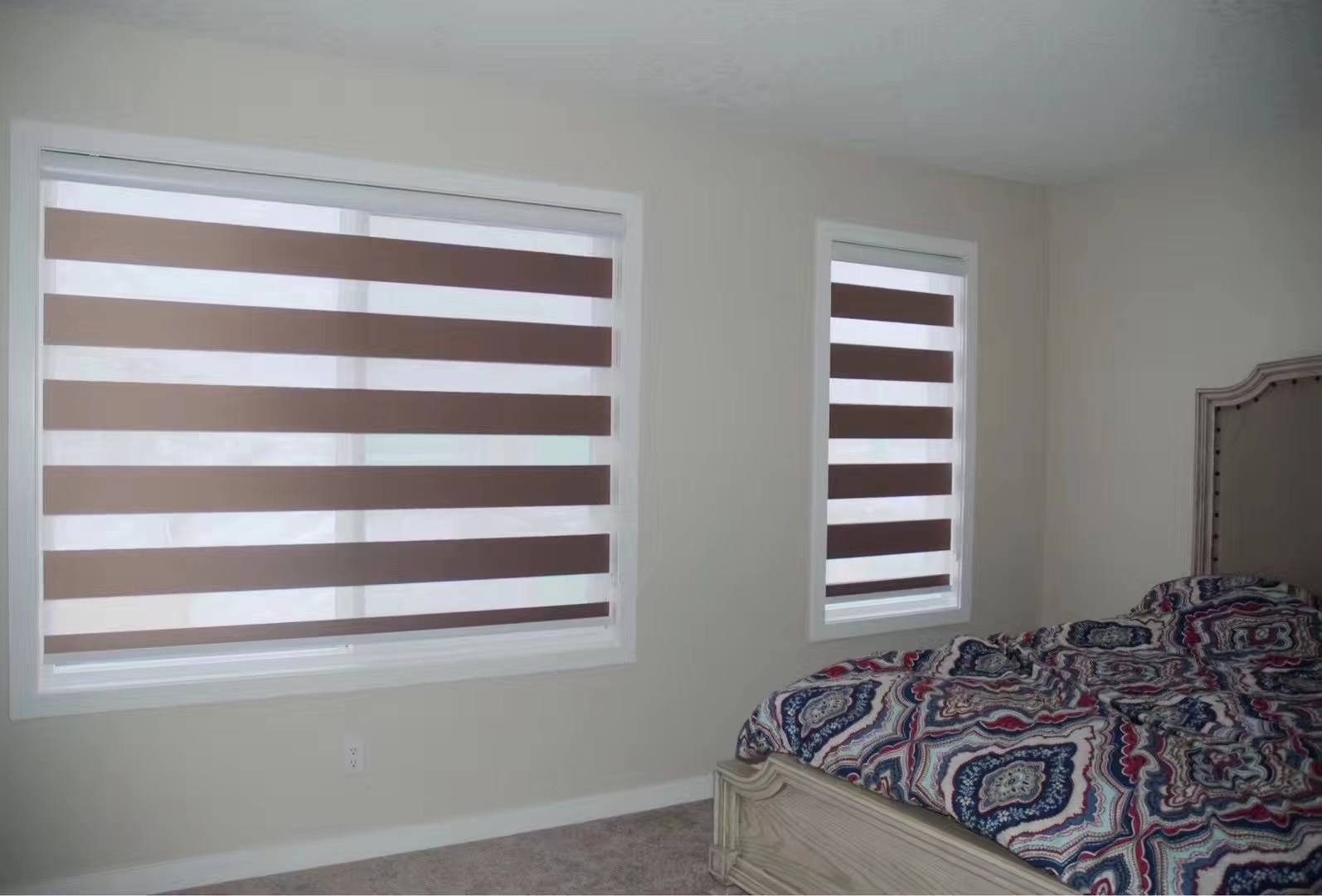 Eclise Blinds Zebra Combi Shades Blackout Fabric For Bedroom