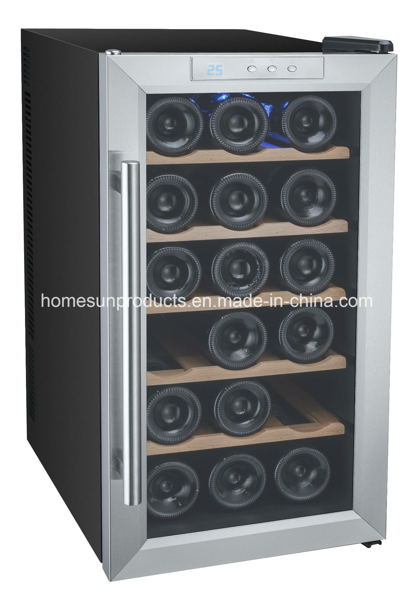 China 18bottles Stainless Steel Glass Door Thermoelectric Wine