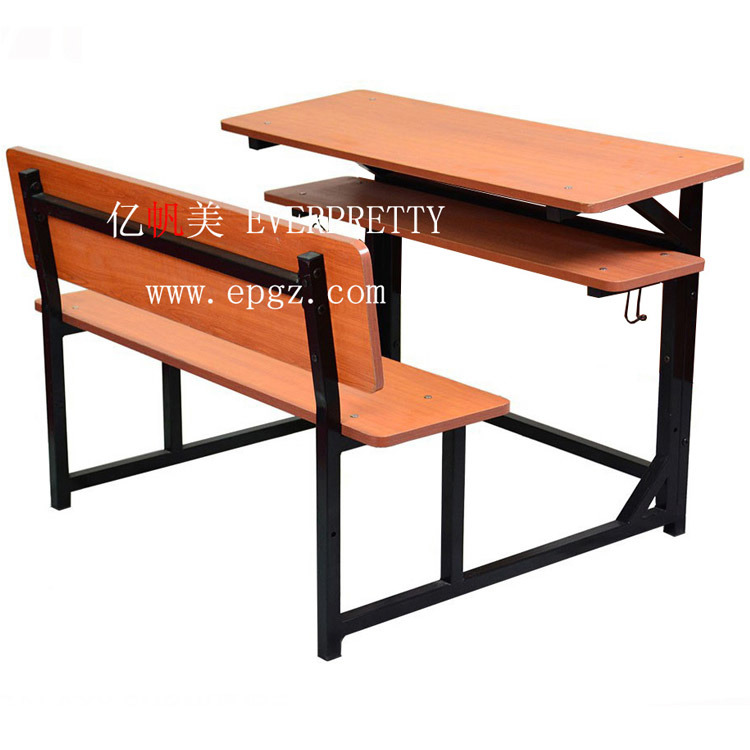 China Antique School Student Wooden Desk Chair Combination