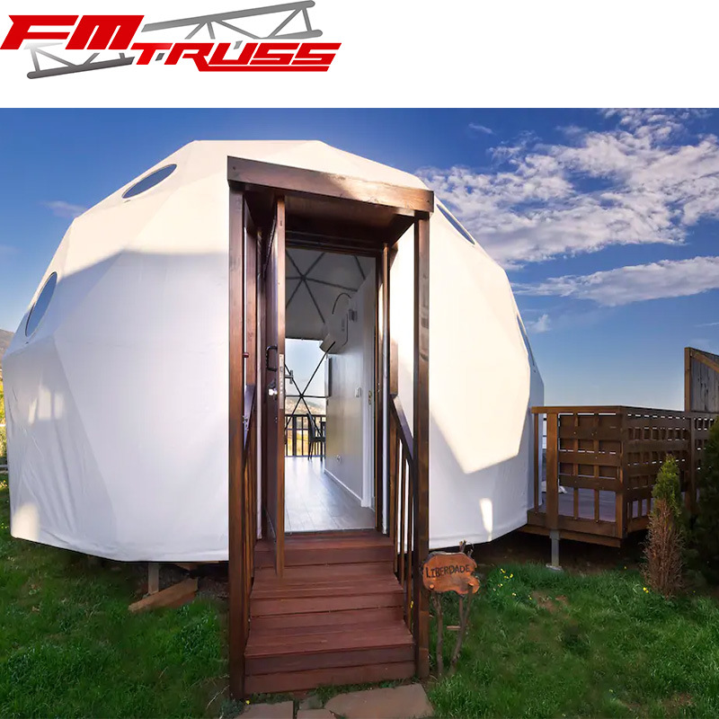 China 2 6people Luxury Glamping Dome Tent With Bathroom And Bedrooms China Glamping Dome Tents And Dome Tents Luxury Price