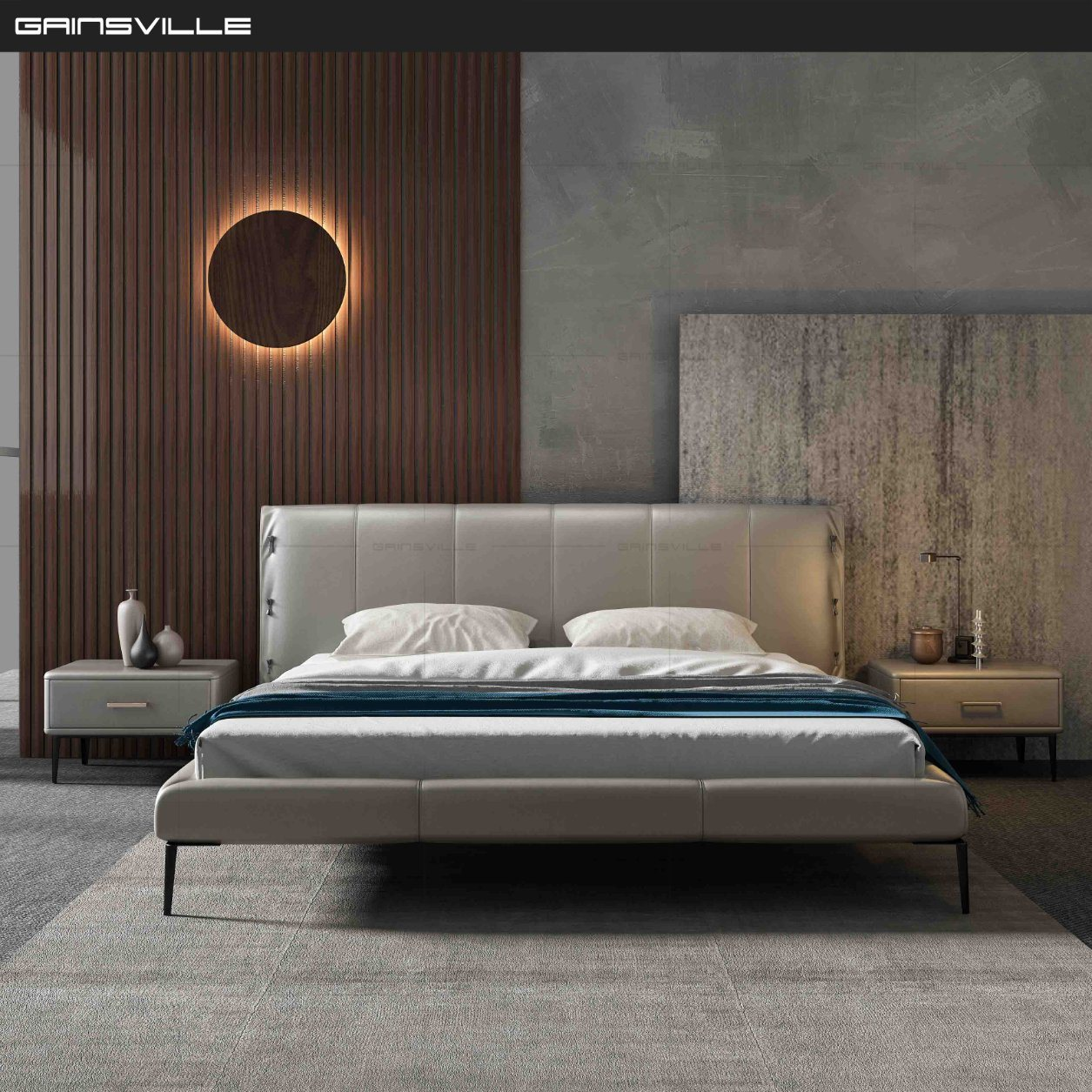 Picture of: China Modern Luxury Contemporary Bedroom Furniture Leather Beds Gc1727 Photos Pictures Made In China Com