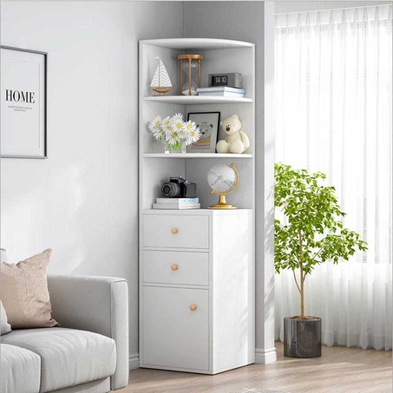 China Corner Cabinet Shelf, Corner Storage Cabinet For Living Room