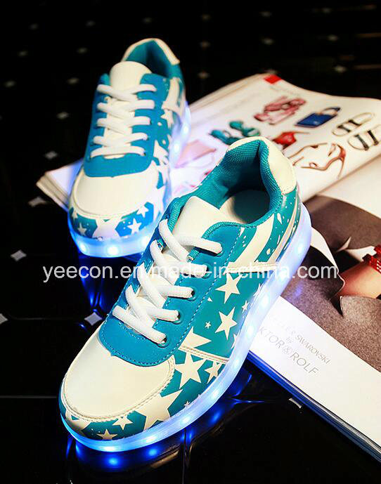 Rechargeable Light up LED Sneaker Running Shoe Flashing Men Luminous Shoes pictures & photos