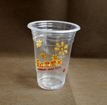Disposable Printed Plastic Juice Cup