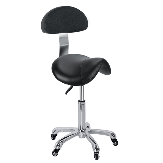Saddle Stool with Backrest Hair Salon Chair Zc03