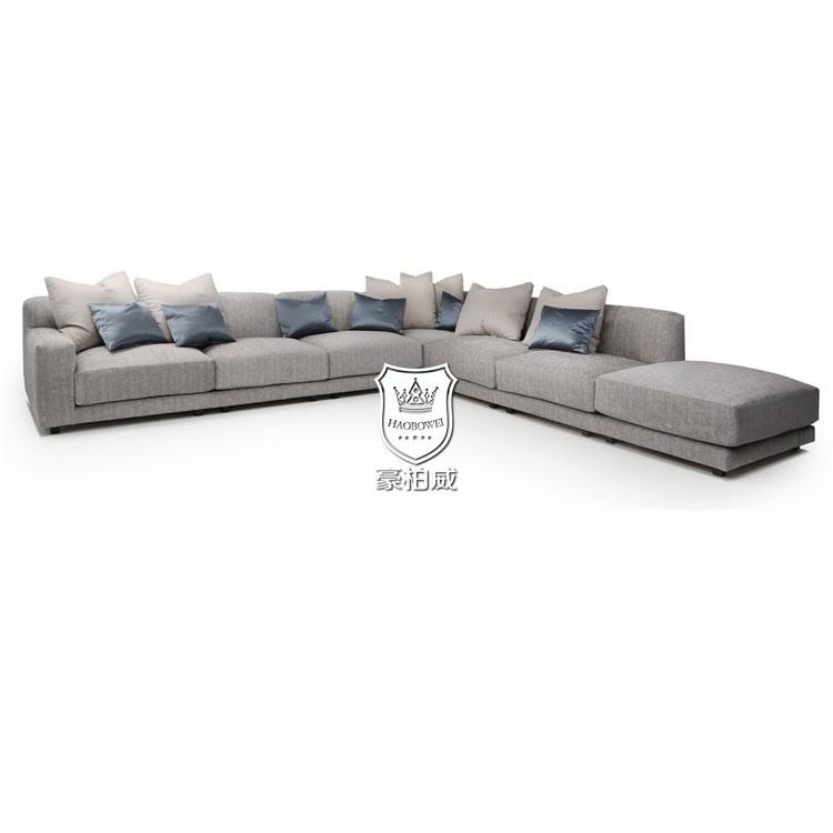 China Large Size L Shape Fabric Sofa Sets Living Room Furniture