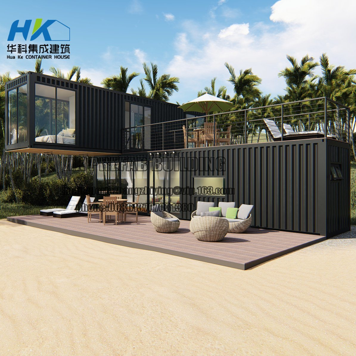 40 Feet Container Homes: China 2X 40FT New High Quality Modular Prefab