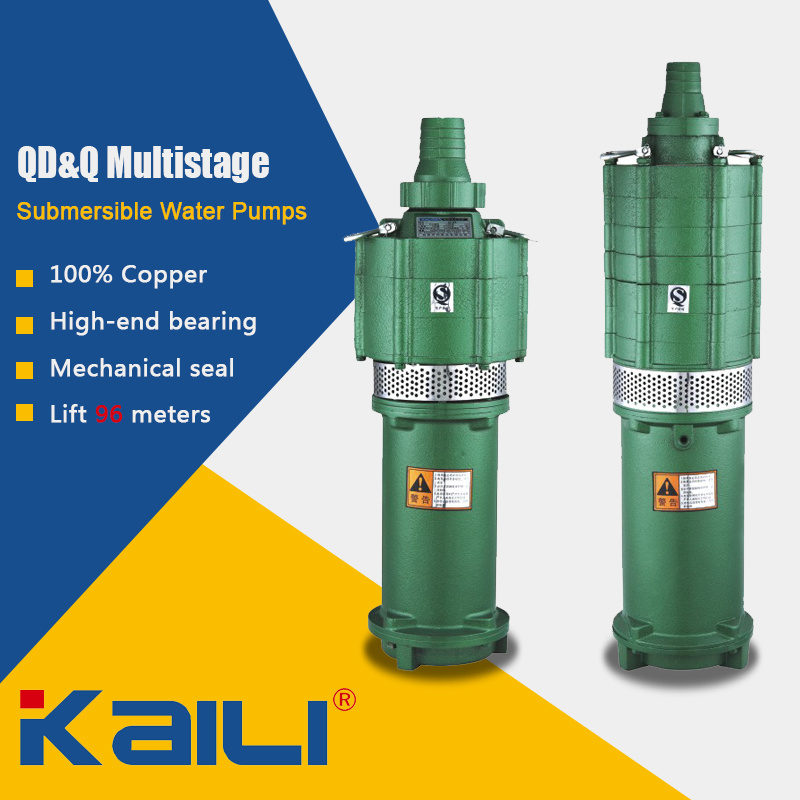 QD&Q Multistage Electric Submersible Water Pumps for Clean Water