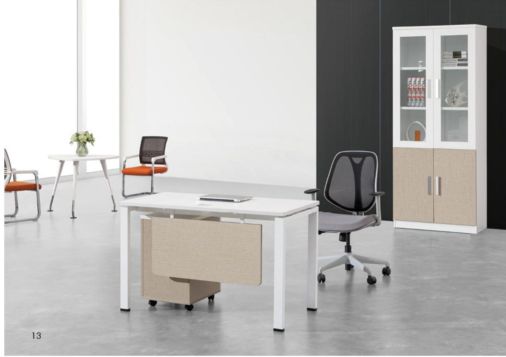 L Shaped Modern Office Melamine Executive Manager Desk
