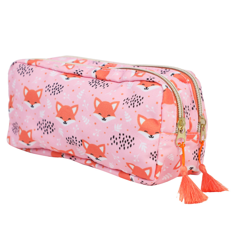 10oz Canvas Printed Pencil Case Pencil Bag for Girls