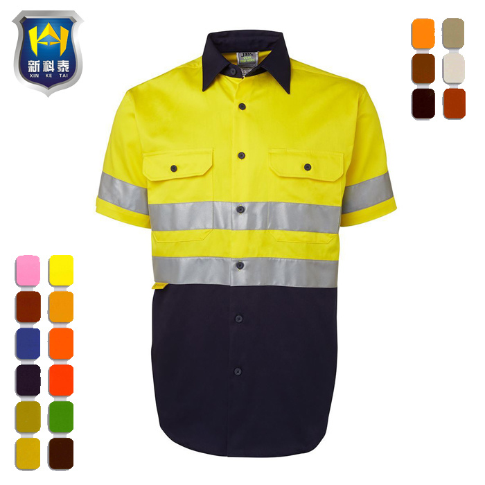 High Visibility Fluorescence Class 2 Short Sleeve Work Shirt pictures & photos