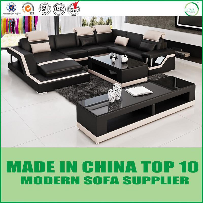[Hot Item] Italian Modern Natuzzi Style U-Shape Leather Sofa Couch