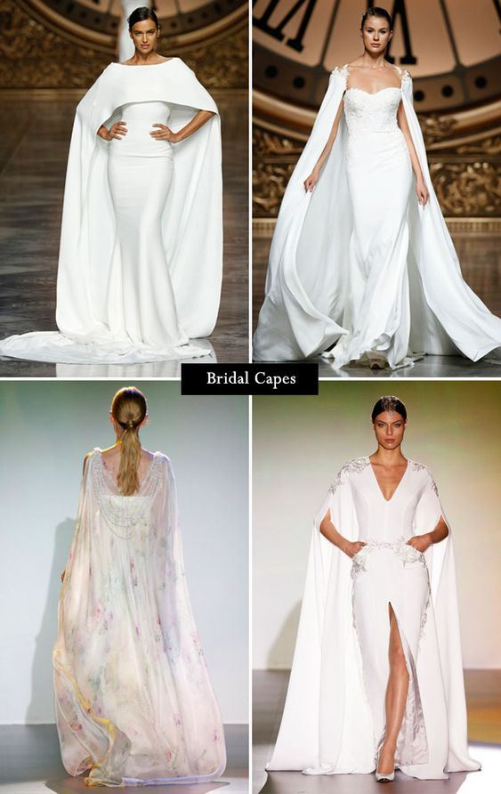 Shawl Cape Lace Boho Wedding Dresses