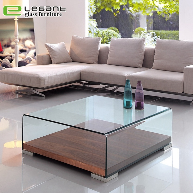 China Curved Glass Center Tables With Walnut Wood Veneer Base China Coffee Table Glass Coffee Tables,Stair Modern Simple Iron Railing Design