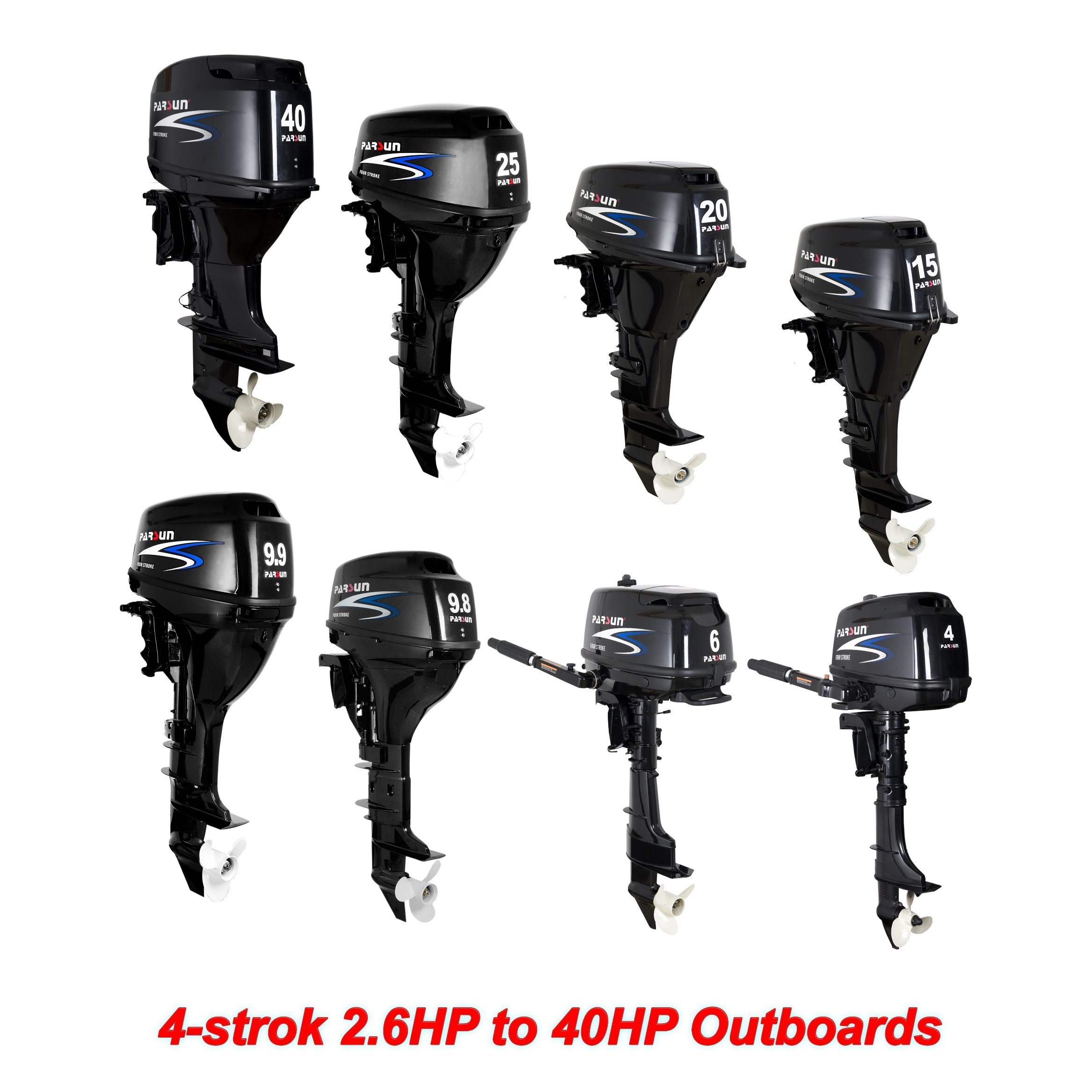 [Hot Item] 2 6HP to 40HP 4-Stroke Outboard Motor compatible for YAMAHA or  Tohatsu