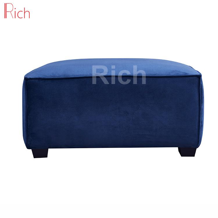 Superb China Living Room Furniture Square Sofa Footstool Blue Machost Co Dining Chair Design Ideas Machostcouk