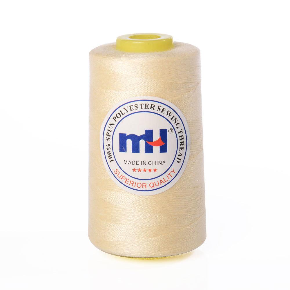 5 x Beige Overlocking Sewing Machine Polyester Thread ~5000 Yard Cones x 5 ~