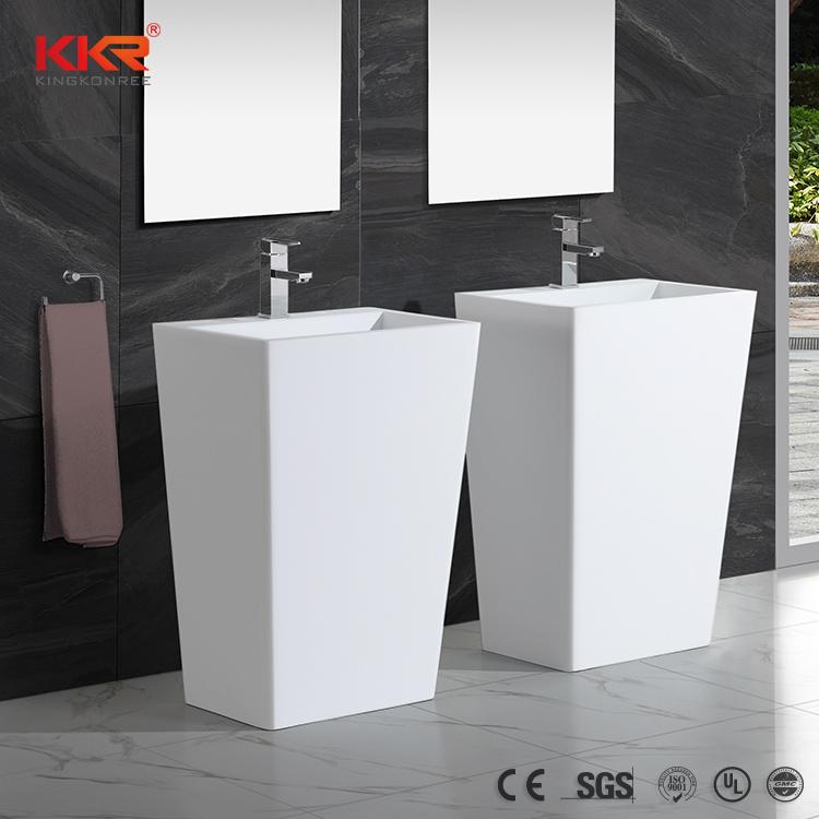 Solid Surface Bathroom Sink Pedestal