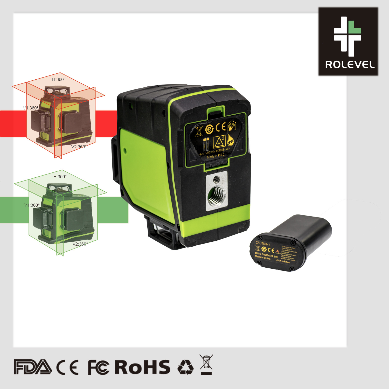 China 12 Lines 3d Laser Level Self Leveling 360 Horizontal And Vertical Cross Super Powerful Green Laser Beam Line China Line Laser Level Crossline Laser Level