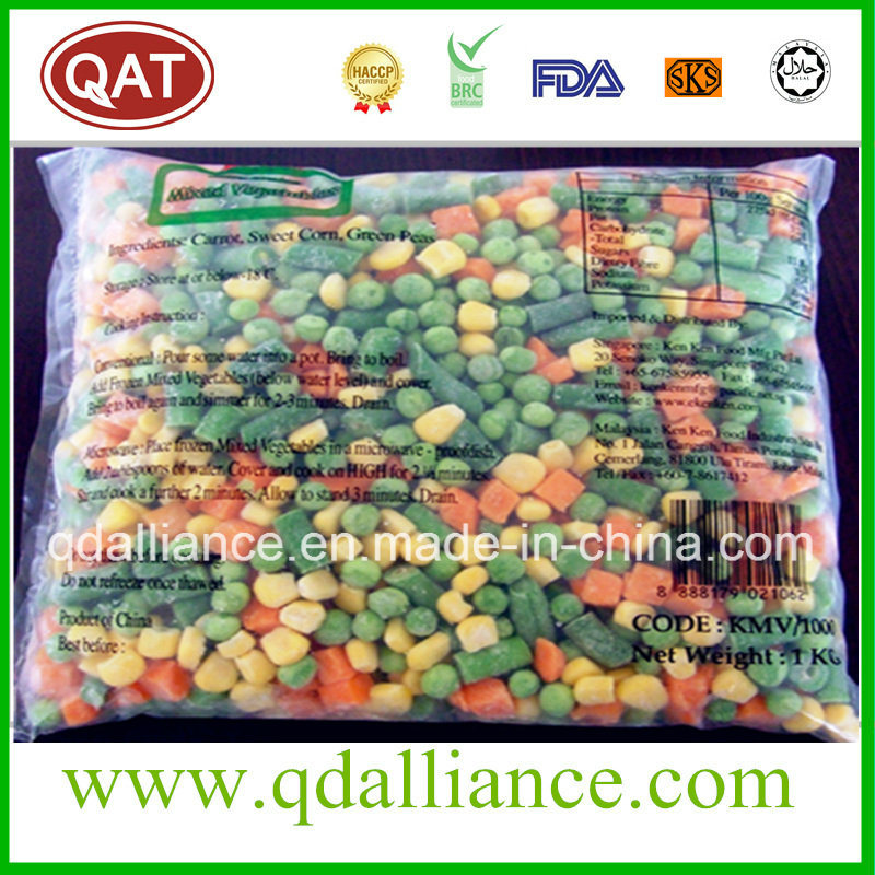 IQF Frozen Mixed Vegetables with Peas, Corn Carrot, Cut Beans pictures & photos