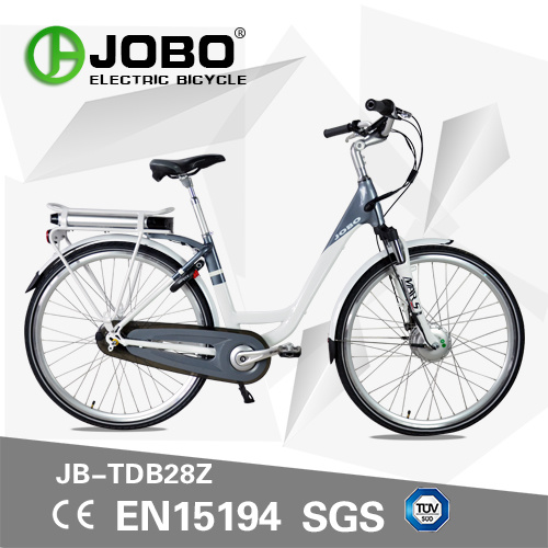 China 700c Rear Rack Battery Electric City Bike Moped With Pedals