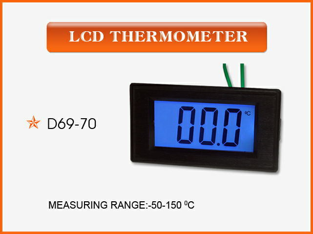 China D69 70 Lcd Thermometer In A High Grade China Panel Meter Lcd Display Digital Panel Meter