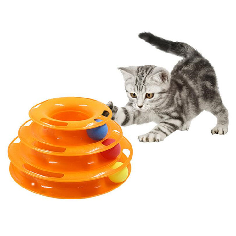 Funny Plastic Detachable Pet Cat Kitten Interactive Turntable Toy pictures & photos