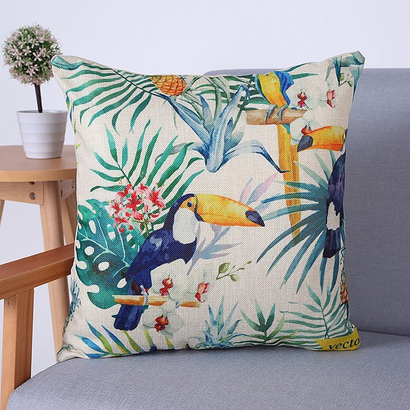 Digital Print Decorative Cushion/Pillow with Birds&Peacock Pattern (MX-69)
