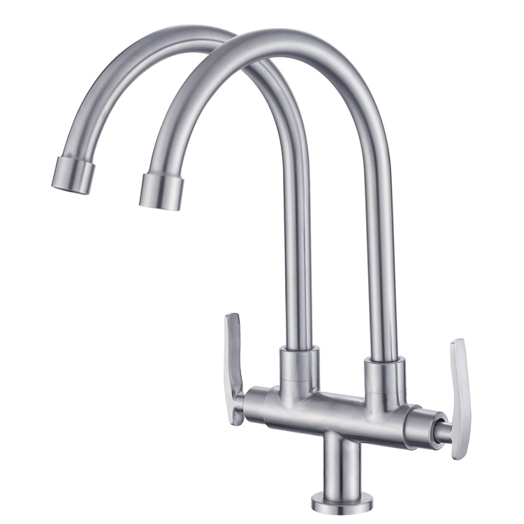 China Double Pipes Cold Water Taps Kitchen Sink Faucets Photos Pictures Made In China Com