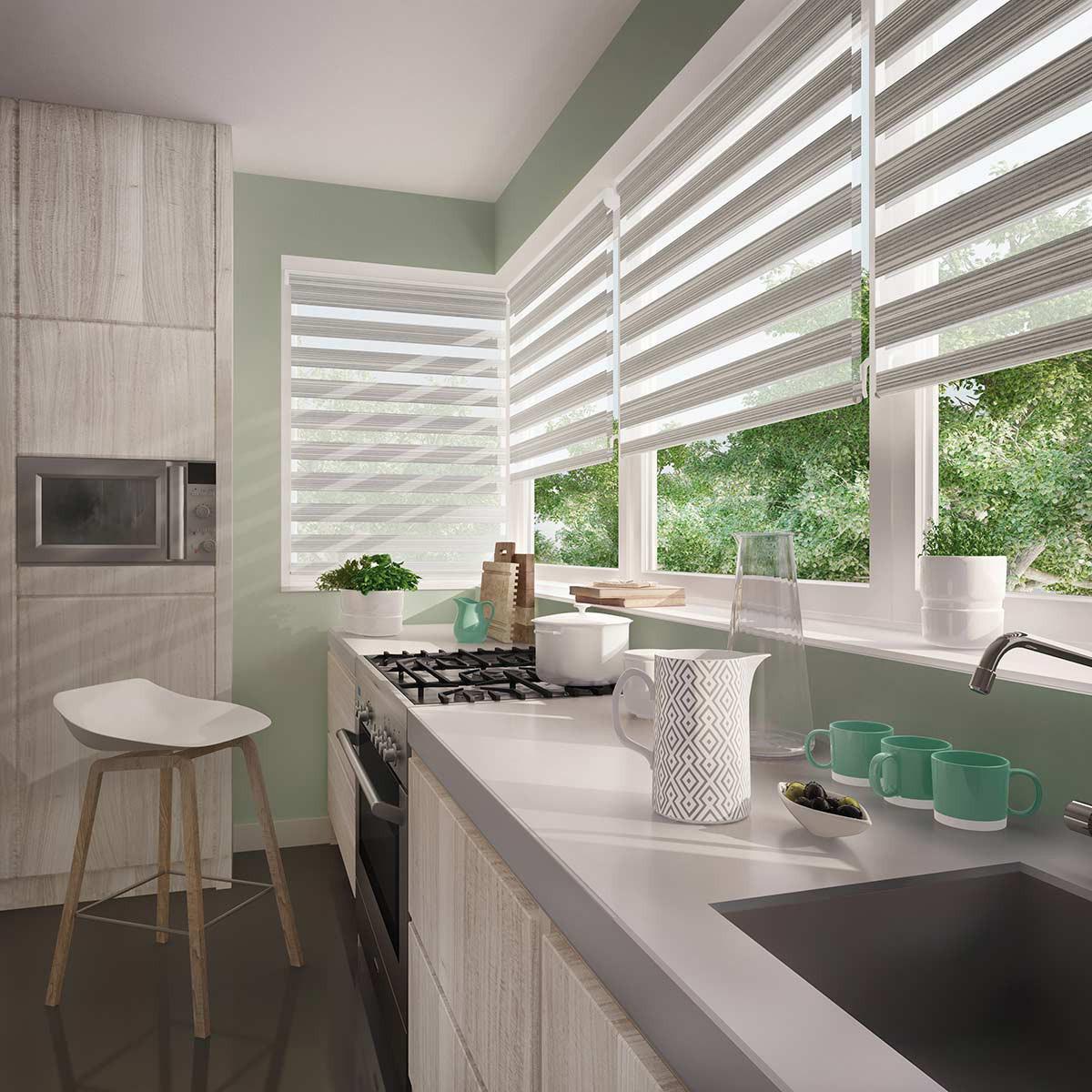 China Kitchen Window Blinds Anti Uv Dual Layer Waterproof Zebra Blinds China Zebra Blinds Zebra Curtain