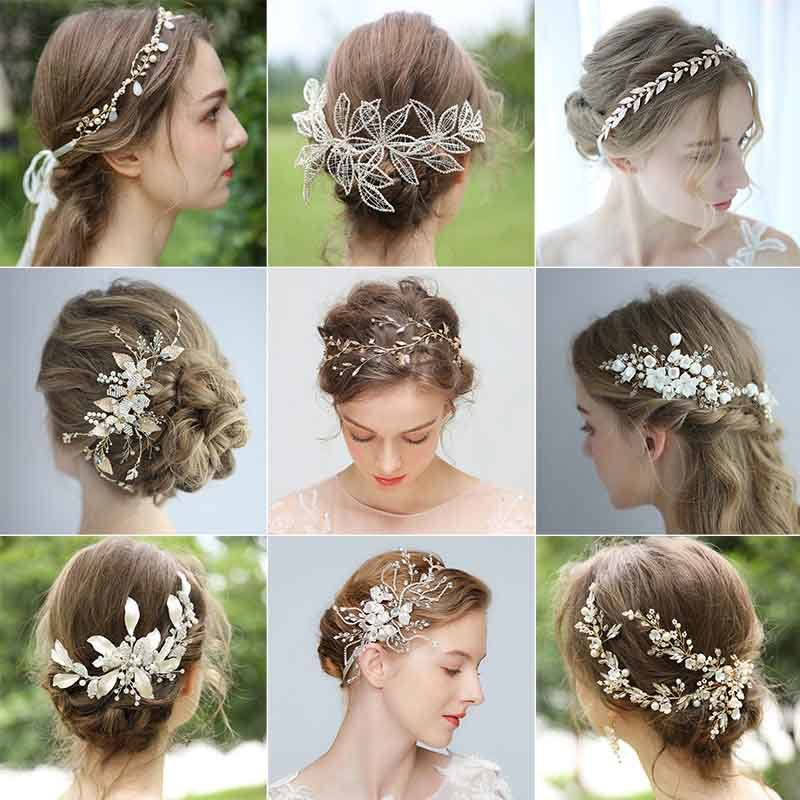 China Promotion Sale Hair Accessories Bridal Headpiece Wedding Headband Jewelry Hair Vine Comb Clip For Girls Women China Bridal Headpieces And Bridal Headband Price