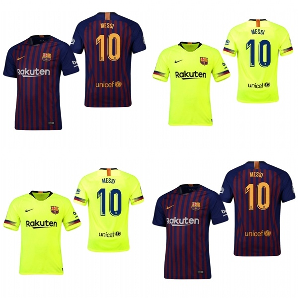 quality design 7c83f 89acc [Hot Item] Barcelona 10 Lionel Messi Home Away Football Shirts Soccer  Jerseys