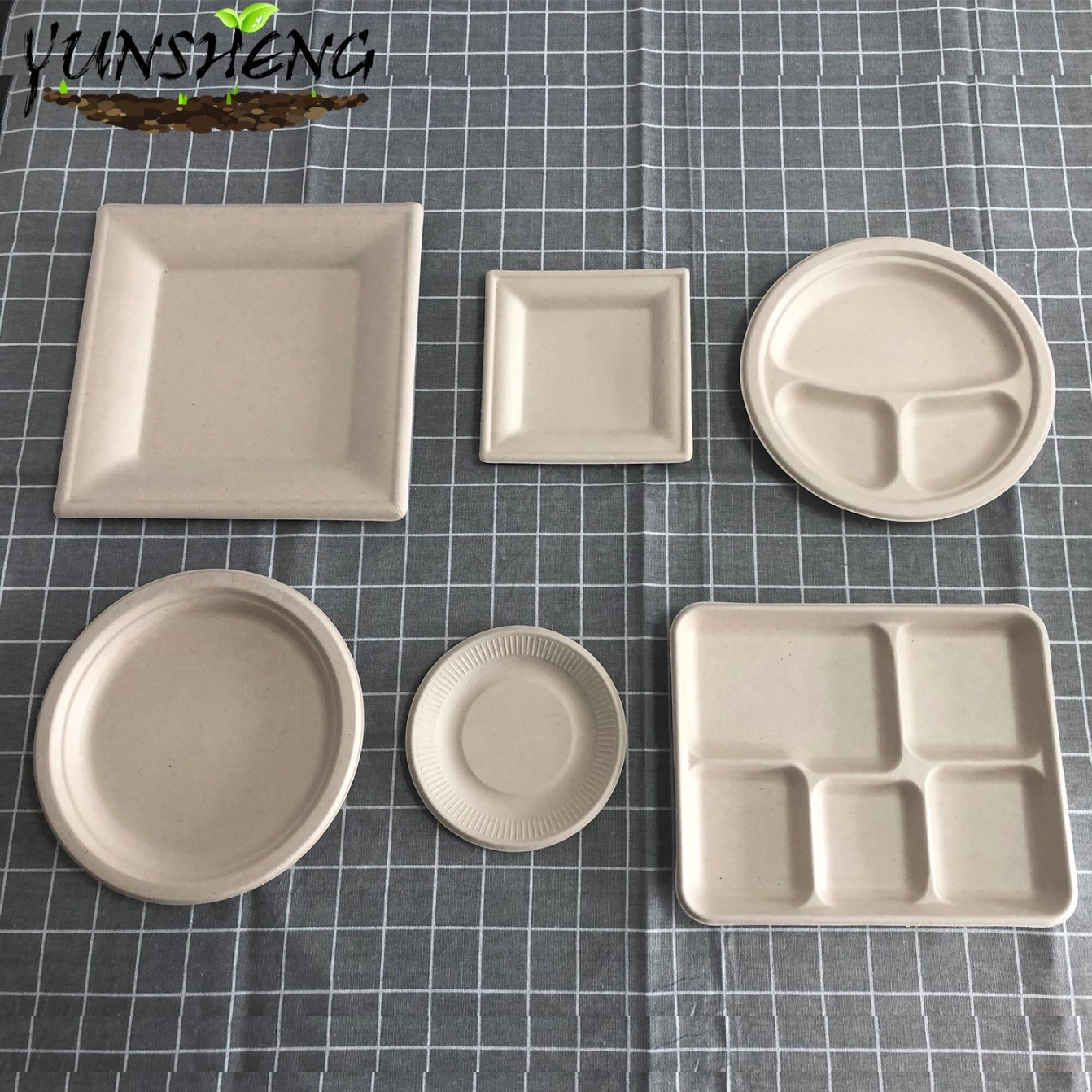 China Eco Friendly Biodegradable Dinner Party Wedding Lunch Dessert Paper Eating Food Holiday Bagasse Sugarcane Plates China Biodegradable Dinner Plates And Biodegradable Dessert Plates Price