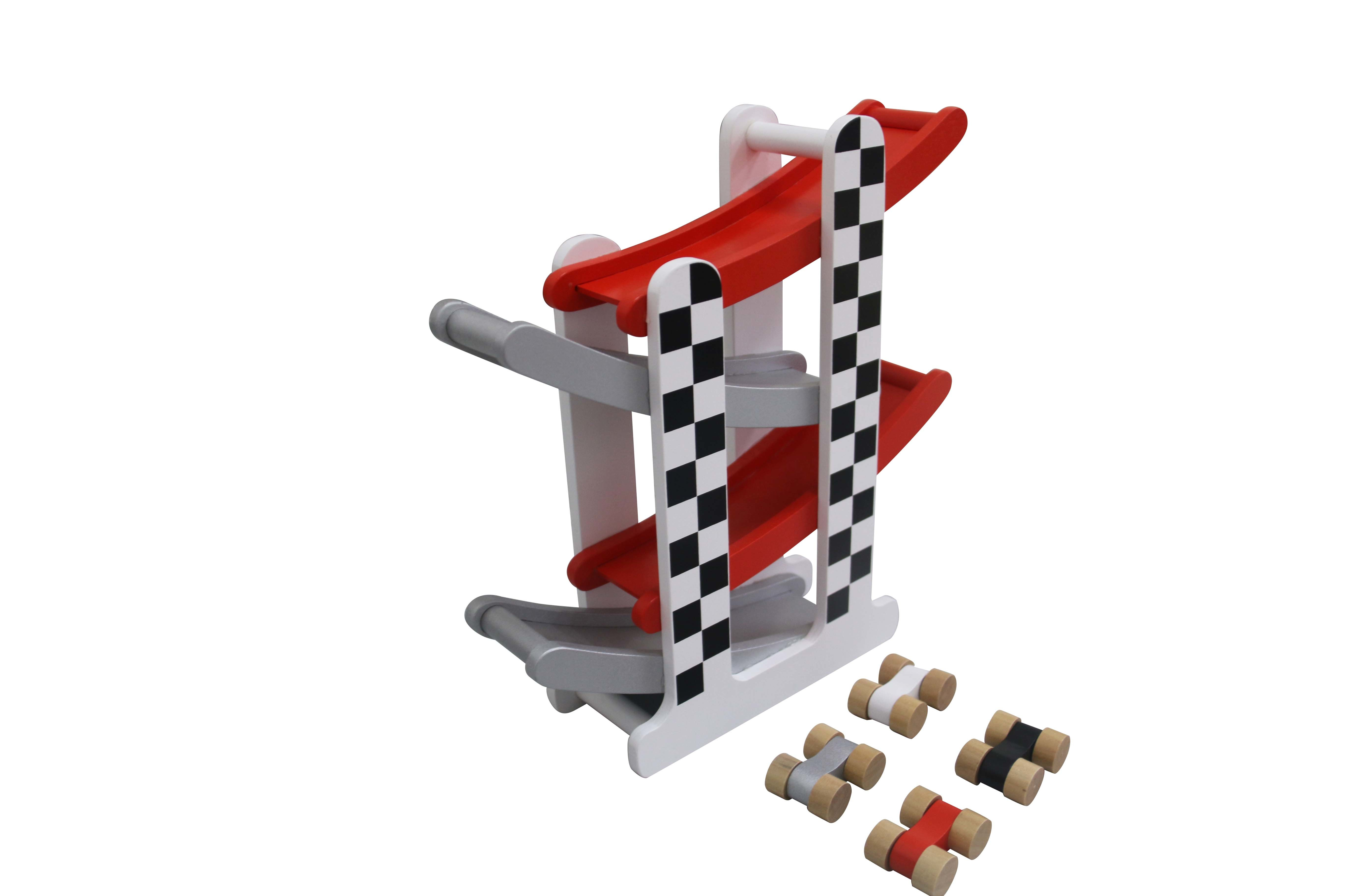 Wooden F1 Racing Track Car Set Toys for Kids and Children