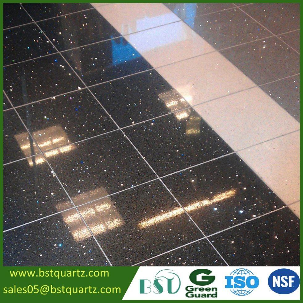 China high quality sparkle black quartz stone floor tile china china high quality sparkle black quartz stone floor tile china quartz stone quartz tile dailygadgetfo Images