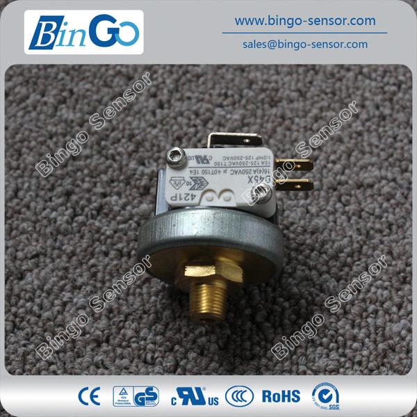 China Air Gas Steam Pressure Switch