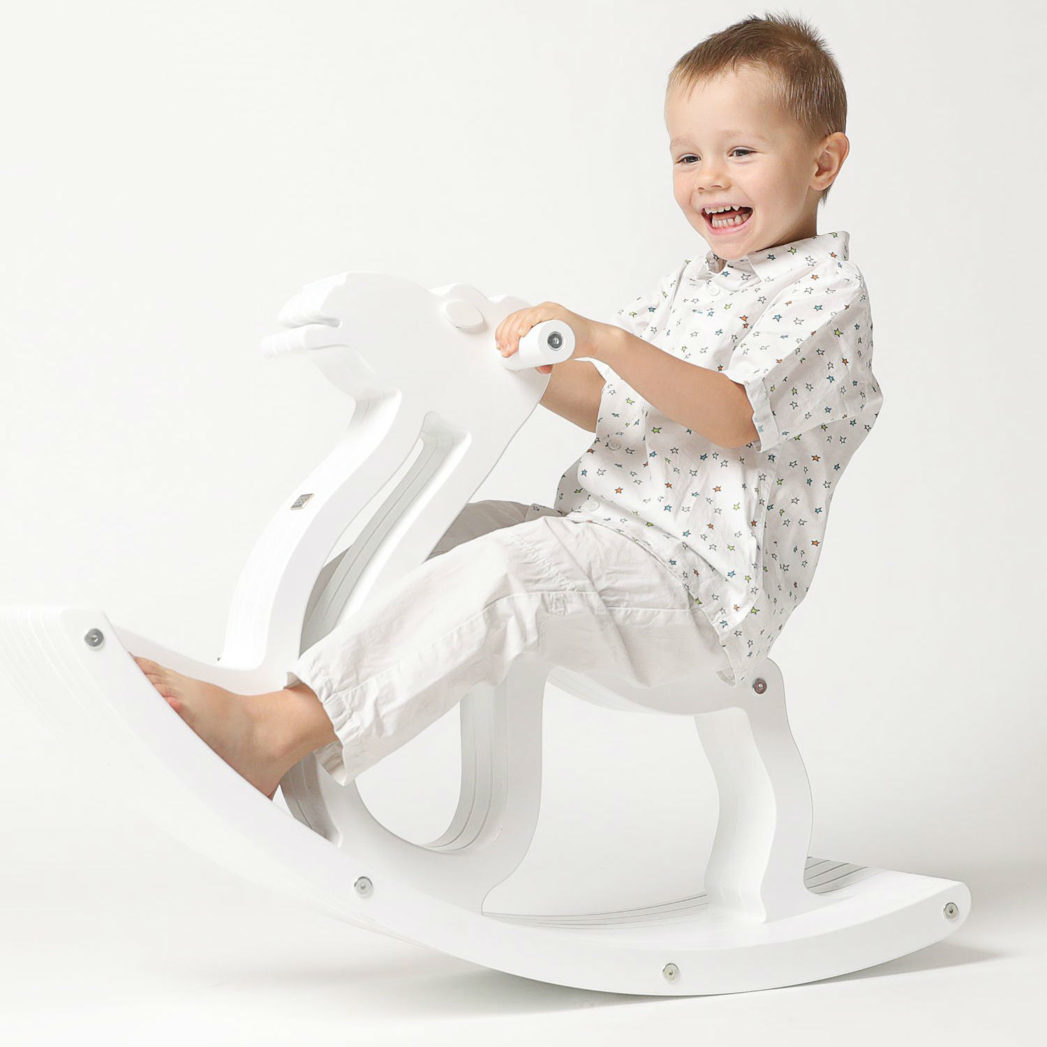 Hot Item Baby Animal Rocking Chair Wooden Rocker Chair For Children Kids Rocking Horse