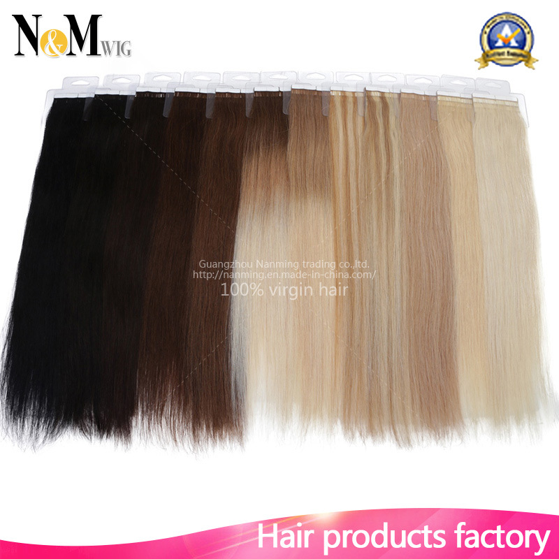 China Full Cuticle Virgin Remy Seamless Skin Weft Tape Hair