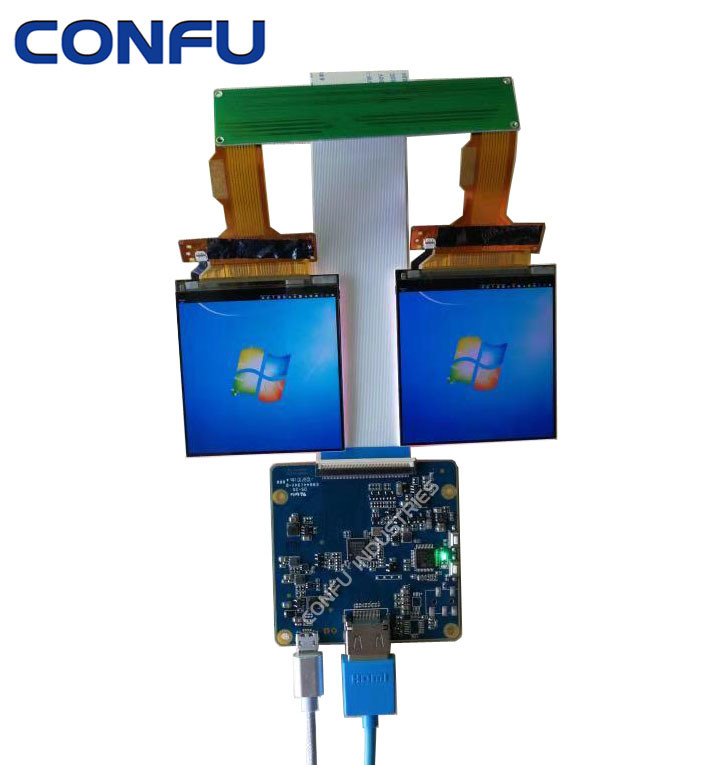 [Hot Item] Confu HDMI to Mipi Dsi Driver Board with Sharp Ls029b3X02 2 89  Inch 2K LCD Dual Display Apply for Vr Ar HMD etc